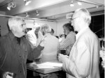 September 2001 - AJ explaining the concept of x-height to Hermann Zapf San Francisco Center for the Book photo: the Duchess