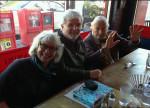 AMJ with Cheryl Miller and Jack Stauffacher, San Francisco, January 2014 (Photo by Christopher Stinehour)