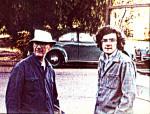 Phil Whalen & AMJ, Berkeley, late 70s (Photo by Shelly Vogel)