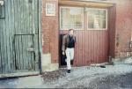 Glen Goluska leaving Imprimerie Dromedaire, Toronto, April 1988