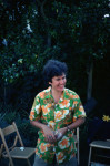 Marilyn Perry (our apprentice), Poltroon Garden Party in the 1970s