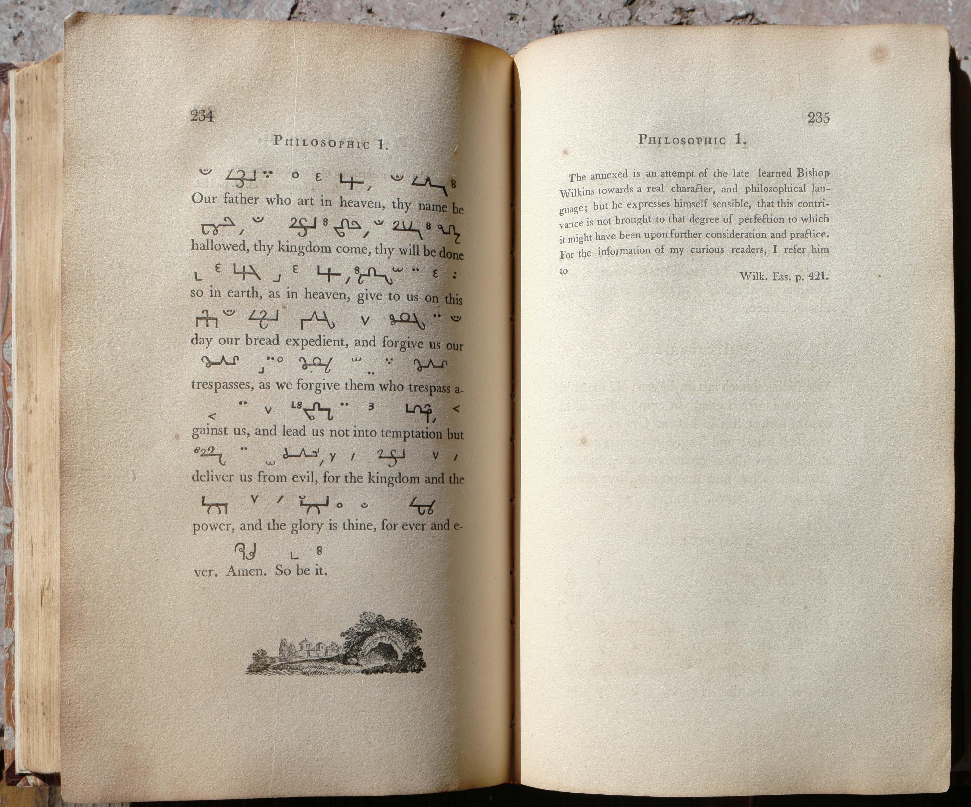 "Bishop Wilkins ""Philosophic"" from Fry's Pantographia 1799"
